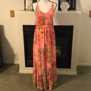 Size S - GB Tropical Print Resort Maxi Dress